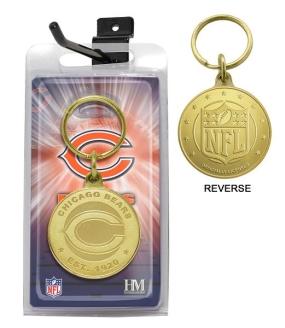 Chicago Bears Bronze Bullion Keychain