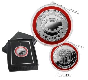 Chicago Bears Silver Coin Ornament