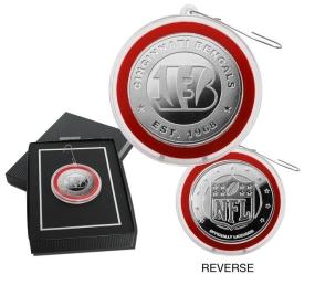 Cincinnati Bengals Silver Coin Ornament