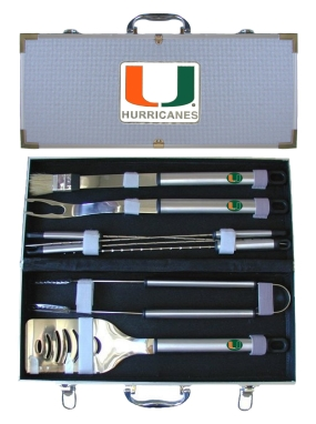 Miami Hurricanes BBQ Grilling Set