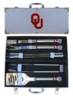Oklahoma Sooners BBQ Grilling Set