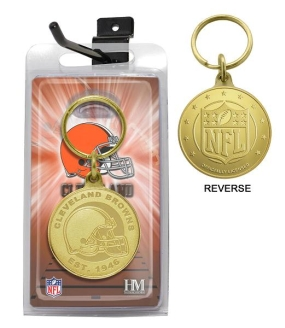 Cleveland Browns Bronze Bullion Keychain