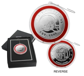 Cleveland Browns Silver Coin Ornament
