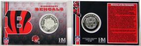 Cincinnati Bengals Team History Coin Card
