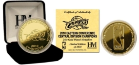 Cleveland Cavaliers 2010 Division Champs 24KT Gold Coin