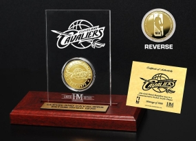 Cleveland Cavaliers 24KT Gold Coin Etched Acrylic