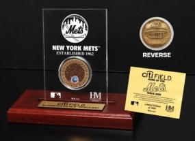 CitiField Infield Dirt Coin Etched Acrylic