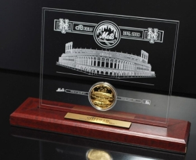 Citi Field 24KT Gold Desktop Etched Acrylic