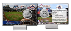 CitiField Silver Plate Coin Card