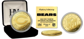Chicago Bears '10 NFC North Division Champions 24KT Gold Coin