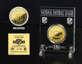 Chicago Bears 24KT Gold Game Coin