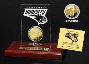 Charlotte Bobcats 24KT Gold Coin Etched Acrylic