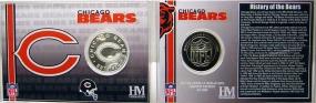 Chicago Bears Team History Coin Card