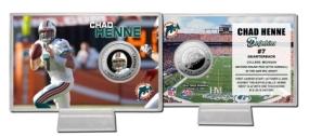 Chad Henne Silver Coin Card