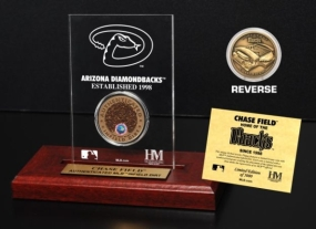 Chase Field Infield Dirt Coin Etched Acrylic