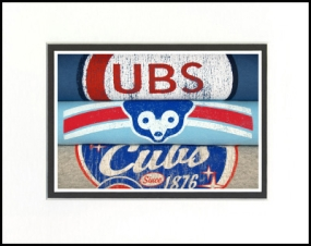 Chicago Cubs Vintage T-Shirt Sports Art