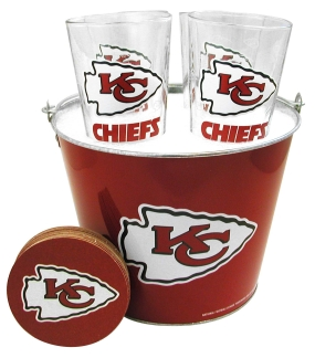 Kansas City Chiefs Gift Bucket Set