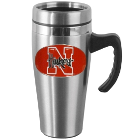 Nebraska Steel Mug w/Handle