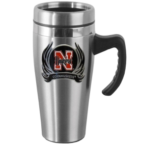 Nebraska Flame Steel Mug w/Handle