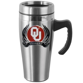 Oklahoma Flame Steel Mug w/Handle