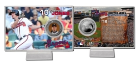 Chipper Jones Silver Plate Coin Card