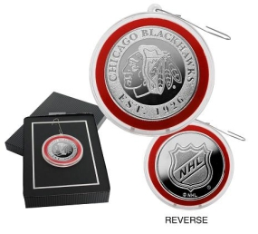 Chicago Blackhawks Silver Coin Ornament