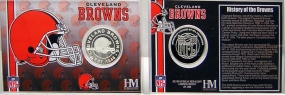 Cleveland Browns Team History Coin Card