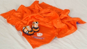 Clemson Tigers Baby Blanket and Slippers