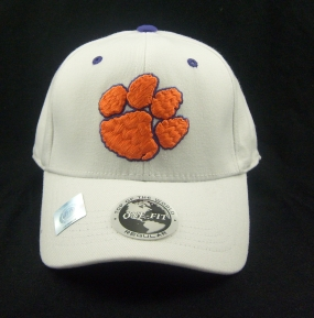 Clemson Tigers White One Fit Hat