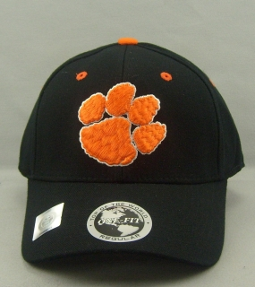 Clemson Tigers Black One Fit Hat