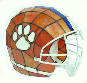 Clemson Tigers Glass Helmet Lamp