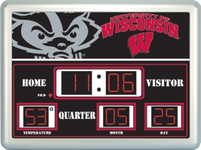 Wisconsin Badgers Scoreboard Clock