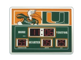 Miami Hurricanes Scoreboard Clock