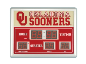 Oklahoma Sooners Scoreboard Clock