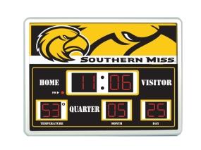 Southern Miss Golden Eagles Scoreboard Clock