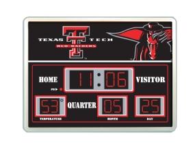 Texas Tech Red Raiders Scoreboard Clock
