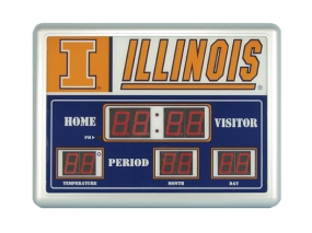 Illinois Fighting Illini Scoreboard Clock
