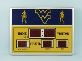 West Virginia Mountaineers Scoreboard Clock