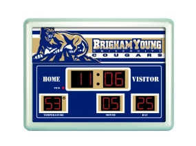 Brigham Young Cougars Scoreboard Clock