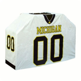 Michigan Wolverines Jersey Grill Cover