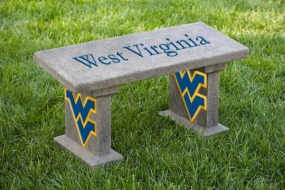 West Virginia Mountaineers Concrete Bench