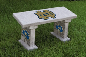Notre Dame Fighting Irish Concrete Bench
