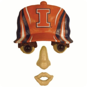 Illinois Fighting Illini Forest Face