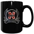 Nebraska Flame Ceramic Mugs
