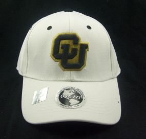 Colorado Buffaloes White One Fit Hat