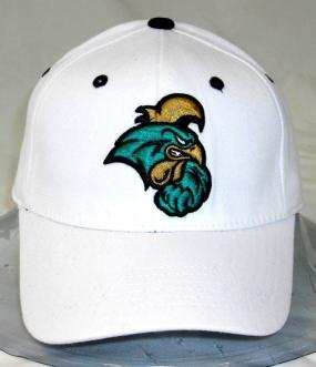 Coastal Carolina White One Fit Hat