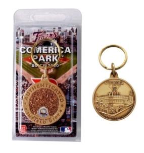Comerica Park Bronze Infield Dirt Keychain