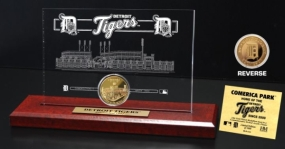 Comerica Park 24KT Gold Coin Etched Acrylic