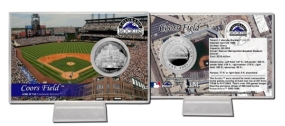 Coors Field Silver Plate Coin Card