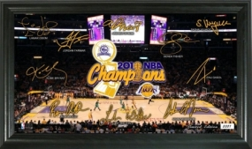 Los Angeles Lakers 2010 NBA Champions Signature Court